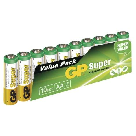 10 ks Alkalická batéria AA GP SUPER 1,5V