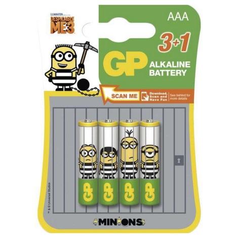3+1 ks Alkalické batérie AAA 1,5V