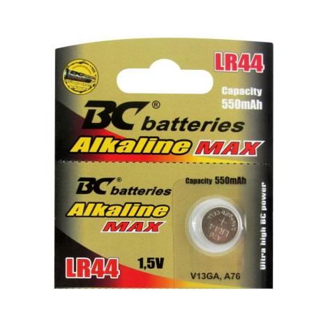 Alkalická gombíková batéria LR44 1,5V