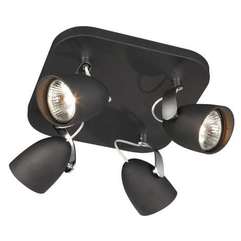 ALMA Bodové svietidlo 4xGU10/75W/230V čierna