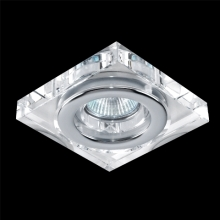 Downlight Family 1xGU10/50W krištáľ/hliník