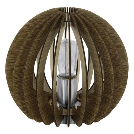 Eglo 79121 - Stolná lampa COSSANO 1xE27/60W/230V hnedá