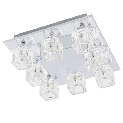 EGLO 91977 - Stropné svietidlo TANGA 2 8xG4/20W + LED/1,92W