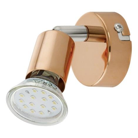 Eglo 94772 - LED bodové svietidlo BUZZ-COPPER 1xGU10/3W/230V
