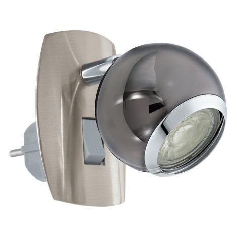 Eglo 96841 - LED Nástenná lampa do zásuvky BIMEDA 1xGU10/3,3W/230V šedá