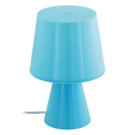 Eglo 96909 - Stolná lampa MONTALBO 1xE14/40W/230V modrá