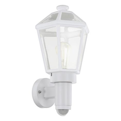 Eglo 97256 - Vonkajšie nástenné svietidlo so senzorom MONSELICE 1xE27/28W/230V