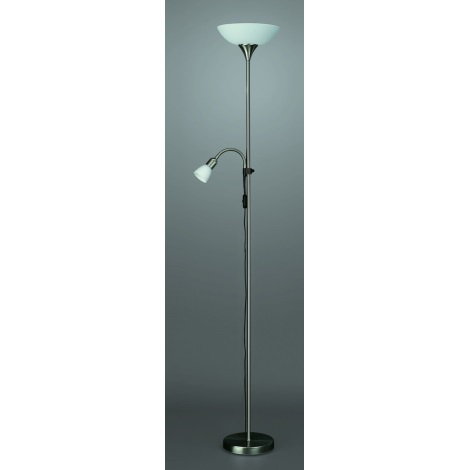 FOCA Lampa podlahová 1xE27/100W/230V - 1xE14/40W/230V