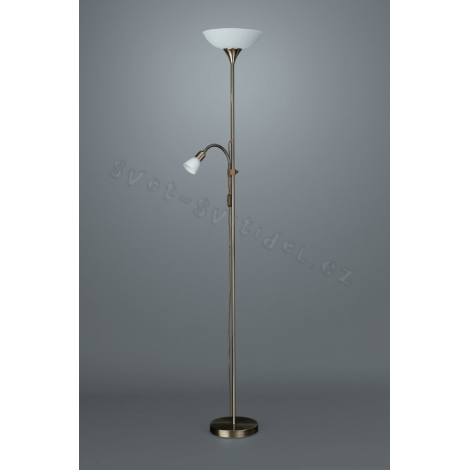 FOCA Podlahová lampa 1xE27/100W/230V - 1xE14/40W/230V