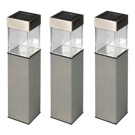 Grundig 90048 - SADA 3x Solárna lampa 3xLED/5,5x28cm