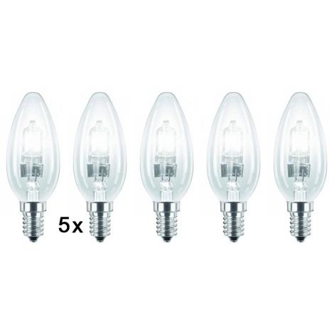 Halogenová žiarovka E14/28W 2700K sada 5 žiaroviek