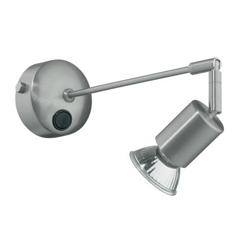 Ideal Lux - Nástenné bodové svietidlo 1xGU10/28W/230V matný chróm