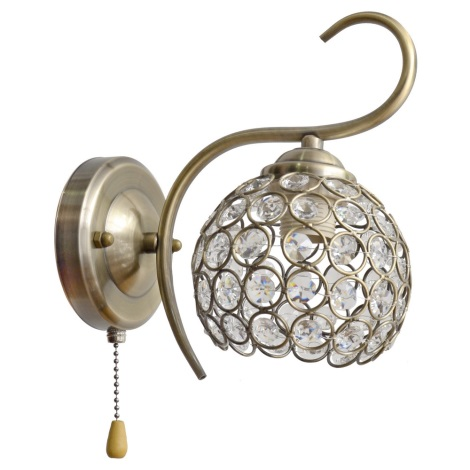 Krištáľové nástenné svietidlo DORA 1xE27/60W/230V