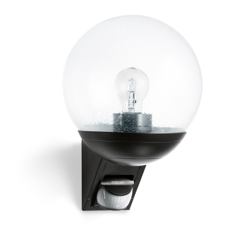 L 535S čierna senzorová nástenná lampa pre vonkajšie  senzorová nástěnná lampa pro venkovní prostory