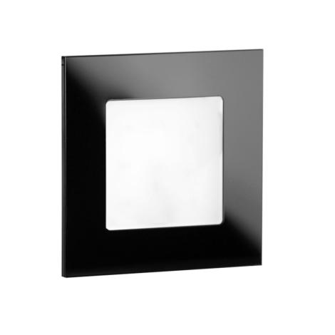LDST AN-01-CB-BC9 - LED schodiskové svietidlo ANGEL 9xLED/1,2W/230V lesklá čierna