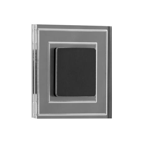 LDST KE-01-SC-BC8 - LED schodiskové svietidlo KELLY 8xLED/1,2W/230V matná čierna
