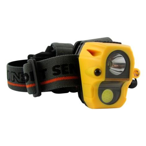 LED Čelovka so senzorom LED/3W/3xAAA