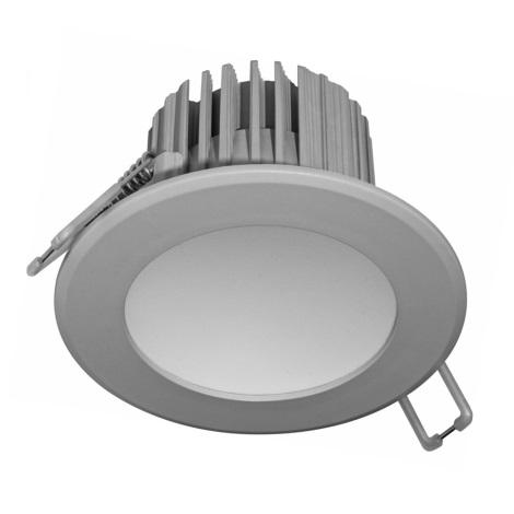 LED Kúpeľňové podhľadové svietidlo LED/7W/230V 4000K šedá IP44