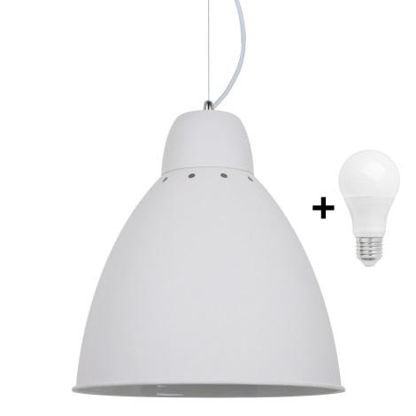 LED Luster 1xE27/60W/230V biela 29,5cm