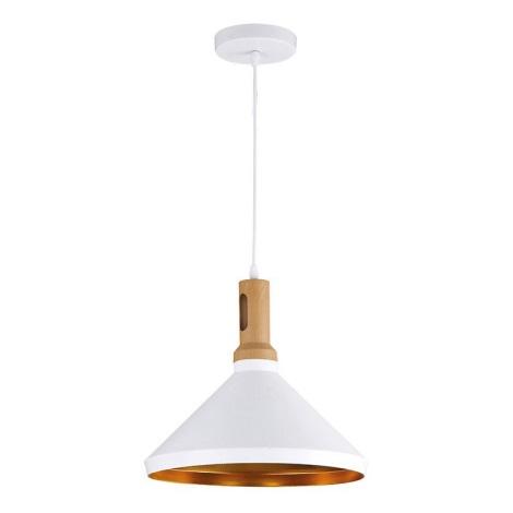 LED Luster 1xE27/60W/230V biela 35cm