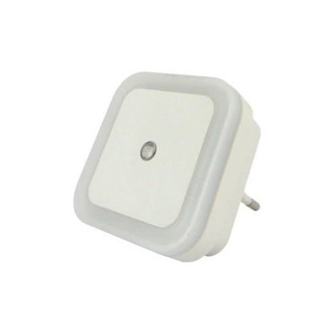 LED Nočné svetlo so senzorom LED/0,5W/230V biela