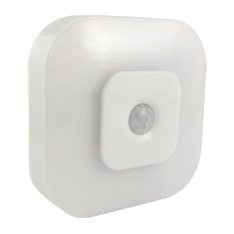 LED Nočné svetlo so senzorom LED/0,5W/3xAAA biela