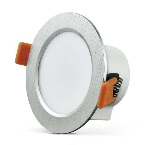 LED Podhľadové svietidlo VENUS LED/7W/230V strieborná guľaté