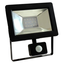 LED Reflektor so senzorom NOCTIS 2 SMD LED/10W/230V IP44 630lm čierna