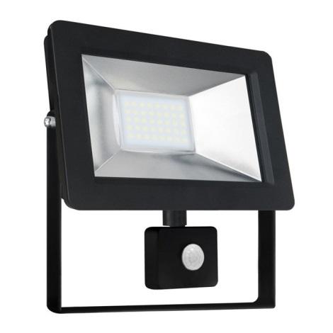 LED Reflektor so senzorom NOCTIS 2 SMD LED/30W/230V IP44 2050lm čierna