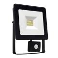 LED Reflektor so senzorom NOCTIS LUX SMD LED/10W/230V 900lm čierna IP44