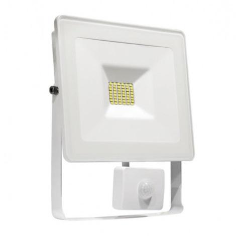 LED Reflektor so senzorom NOCTIS LUX SMD LED/10W/230V IP44 900lm biela