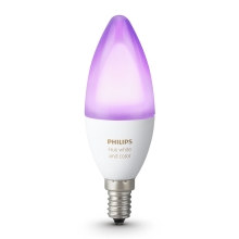 LED RGB Stmievateľná žiarovka Philips HUE WHITE AND COLOR AMBIANCE E14/6W/230V