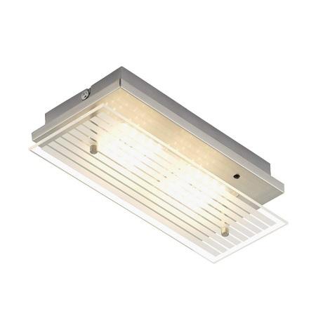 LED RGB Stmievateľné stropné svietidlo DUO 2xLED/3,6W/230V + diaľkové ovládanie