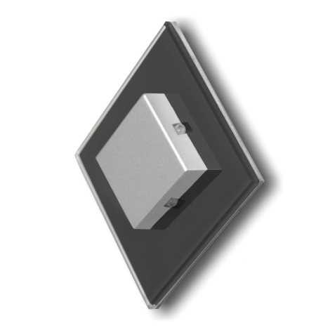 LED schodiskové svietidlo STARS 4xLED/0,32W/12V čierna 6000K