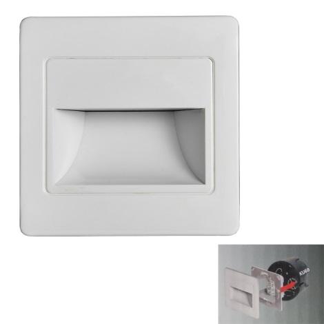LED Schodiskové svietidlo STEP LIGHT LED/1,5W/230V strieborná