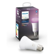 LED Stmievateľná žiarovka Philips HUE WHITE AND COLOR AMBIANCE E27/9W/230V