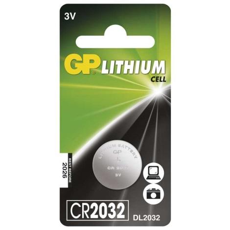 Lithiová batéria gombíková CR2032 GP LITHIUM 3V/220 mAh