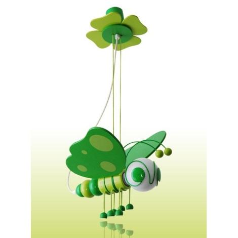 Luster MOTÝL zelená