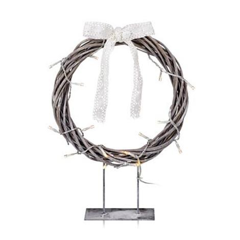 Markslöjd 703108 - Vianočná dekorácia KILSTORP LED/1,2W/3xAA veniec 35 cm šedý