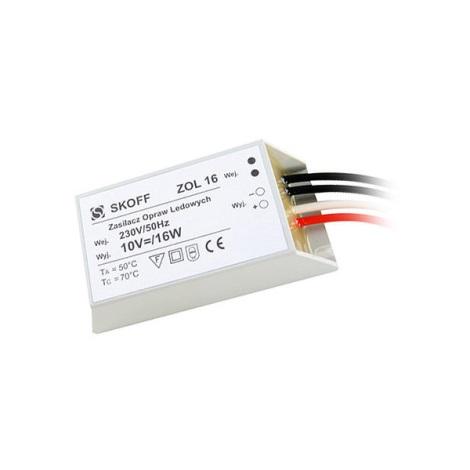 Napájač LED svietidlá (TANGO, RUEDA) ZOL 16/10V-16W
