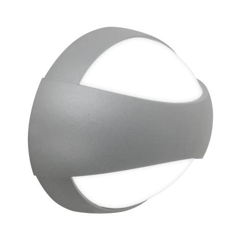 Nástenné LED svietidlo EYES 3xLED/1W strieborná