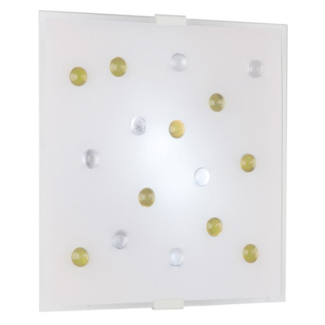 Nástenné stropné svietidlo SANTIAGO 1 2xE14/40W žltá/biela