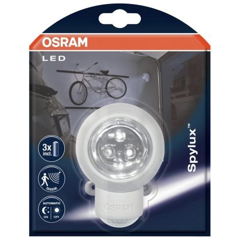Osram - LED Vonkajšie nástenné svietidlo so senzorom SPYLUX 1xLED/0,3W/4,5V