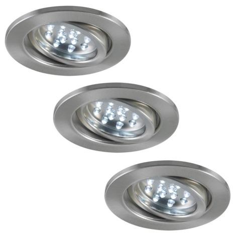 Paulmann 3786 - SET 3x LED Podhľadové svietidlo BASIC 3xLED/0,8W/230V