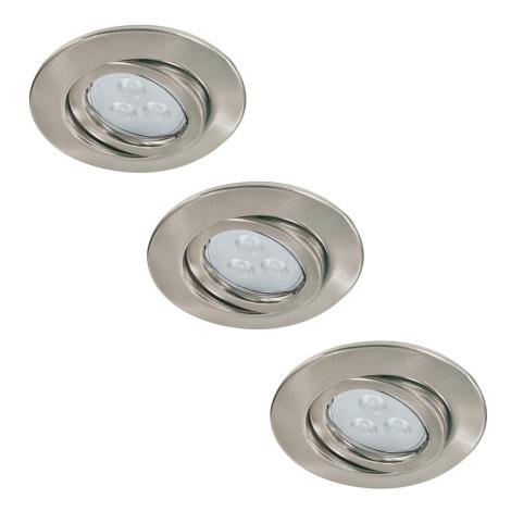 Paulmann 92026 - SET 3x LED Podhľadové svietidlo QUALITY LINE 3xGU10-LED/3,5W