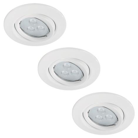 Paulmann 92027 - SET 3x LED Podhľadové svietidlo QUALITY LINE 3xGU10-LED/3,5W