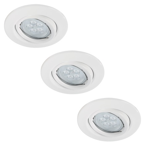 Paulmann 92029 - SET 3x LED Podhľadové svietidlo QUALITY LINE 3xGU10-LED/6,5W