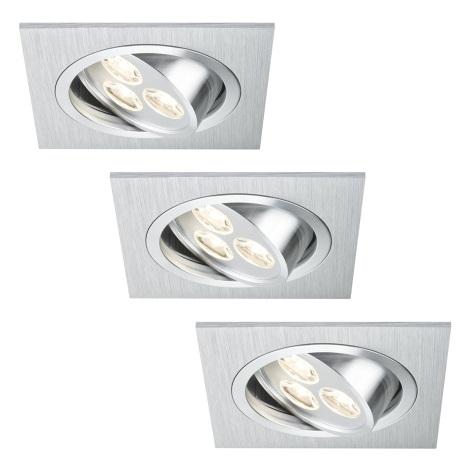 Paulmann 92532 - SET 3x LED Podhľadové svietidlo PREMIUM LINE 3xLED/3W/230V