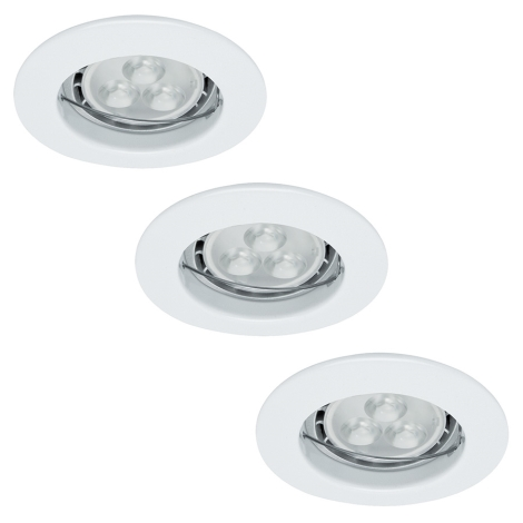 Paulmann 92659 - SET 3x 3x LED Kúpeľňové svietidlo PREMIUM LINE 3xGU10/4W/230V