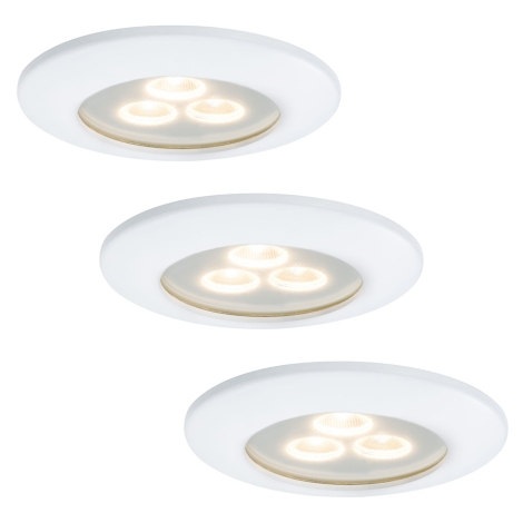 Paulmann 92686 - SET 3x 3x LED Podhľadové svietidlo PREMIUM LINE 3xLED/7,5W/230V